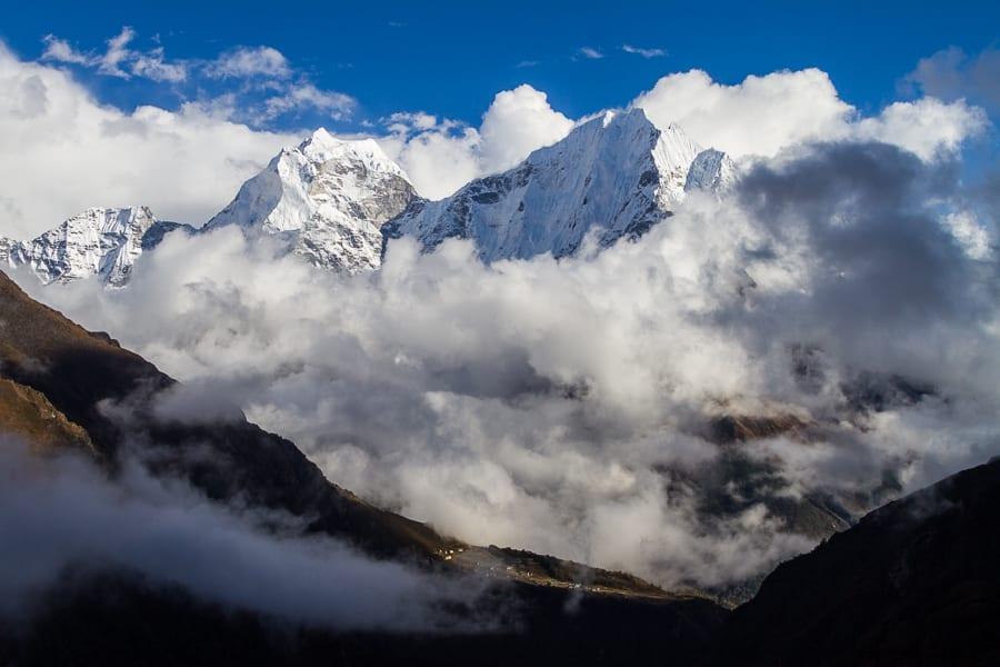 Phortse Below Thamserku And Kangtega, Nepal, Himalayas, Asia