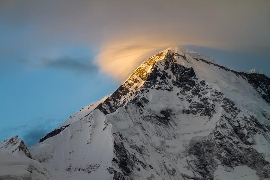 Sunset On Cho Oyu And Clouds, Nepal
