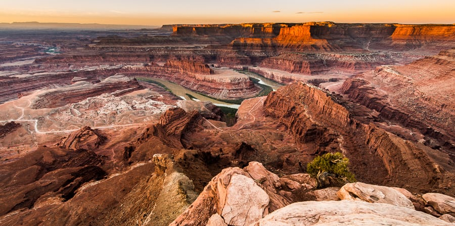 Daybreak, The Colorado River And Canyonlands National Park, Dead