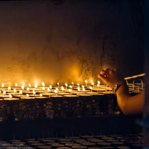 Candle Lighting, Kathmandu, Nepal, Asia