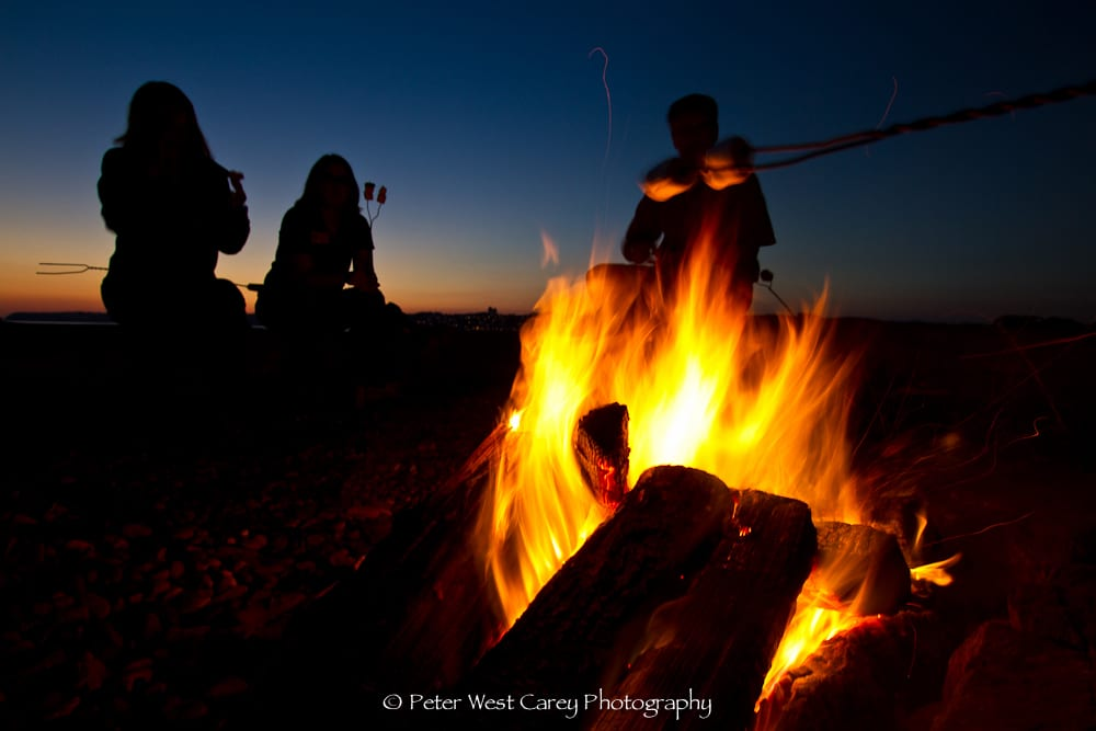 Campfire After Sunset