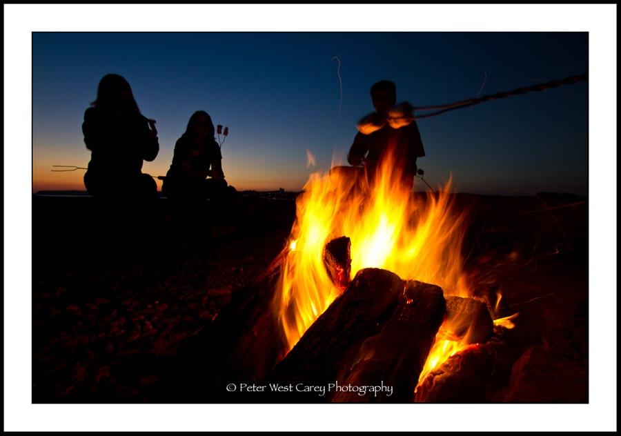 Campfire After Sunset