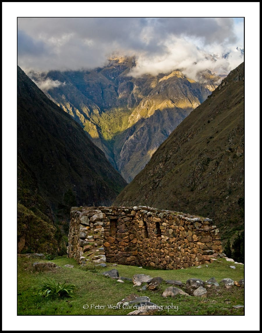 Inca Ruins High In An Andean Valley