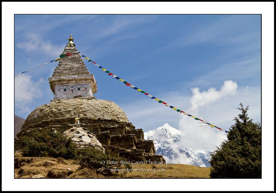 Stupa and Himalayas