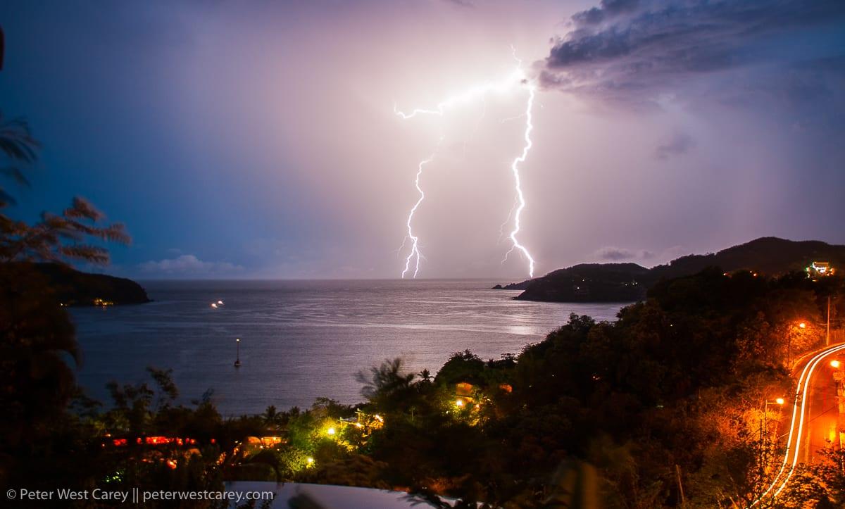 Lightning Storm, Zihuatanejo Bay, Jalisco, Mexico