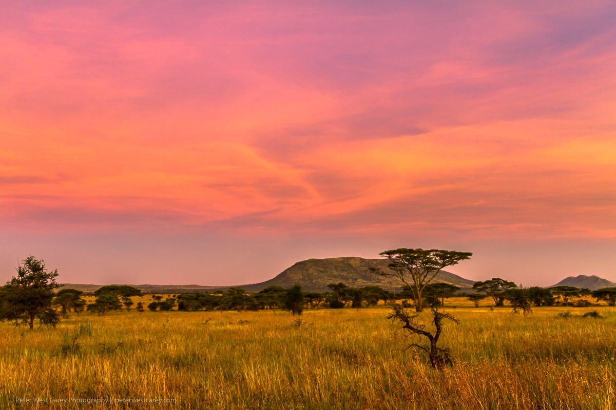 Sunset Clouds, Serengeti National Park, Tanzania