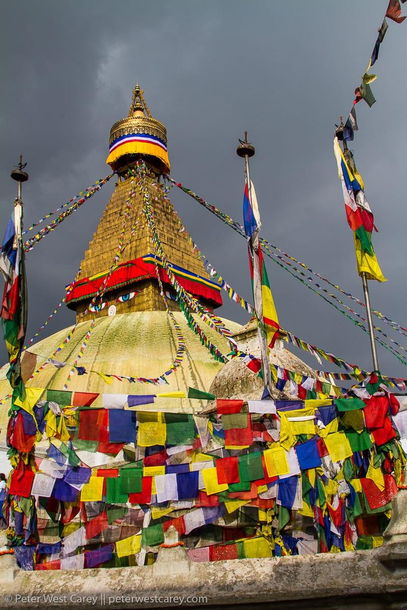 View of Swayambhunath stupa – Nepal