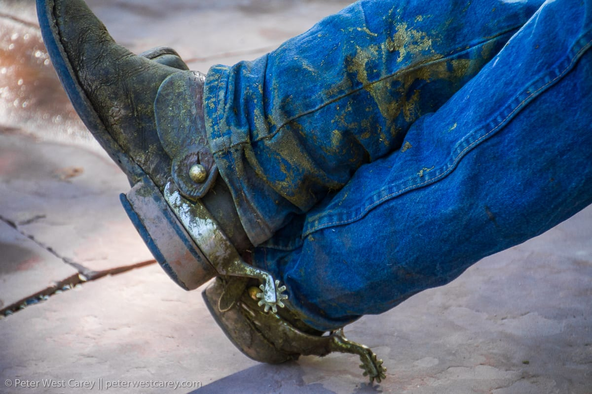 Close-up of a man sitting with his legs crossed – USA – Colorado