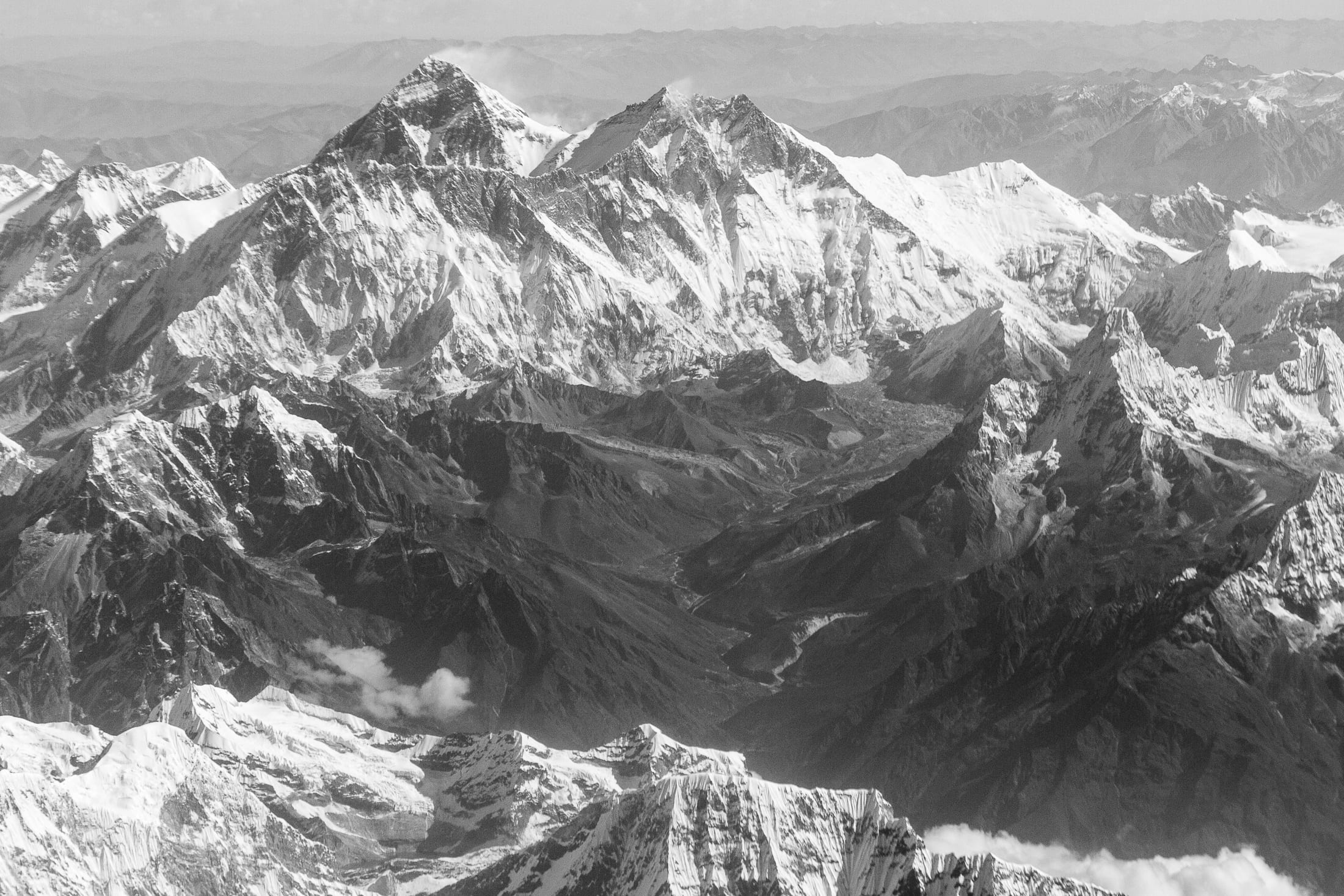 View of Himalayan Ranges – India