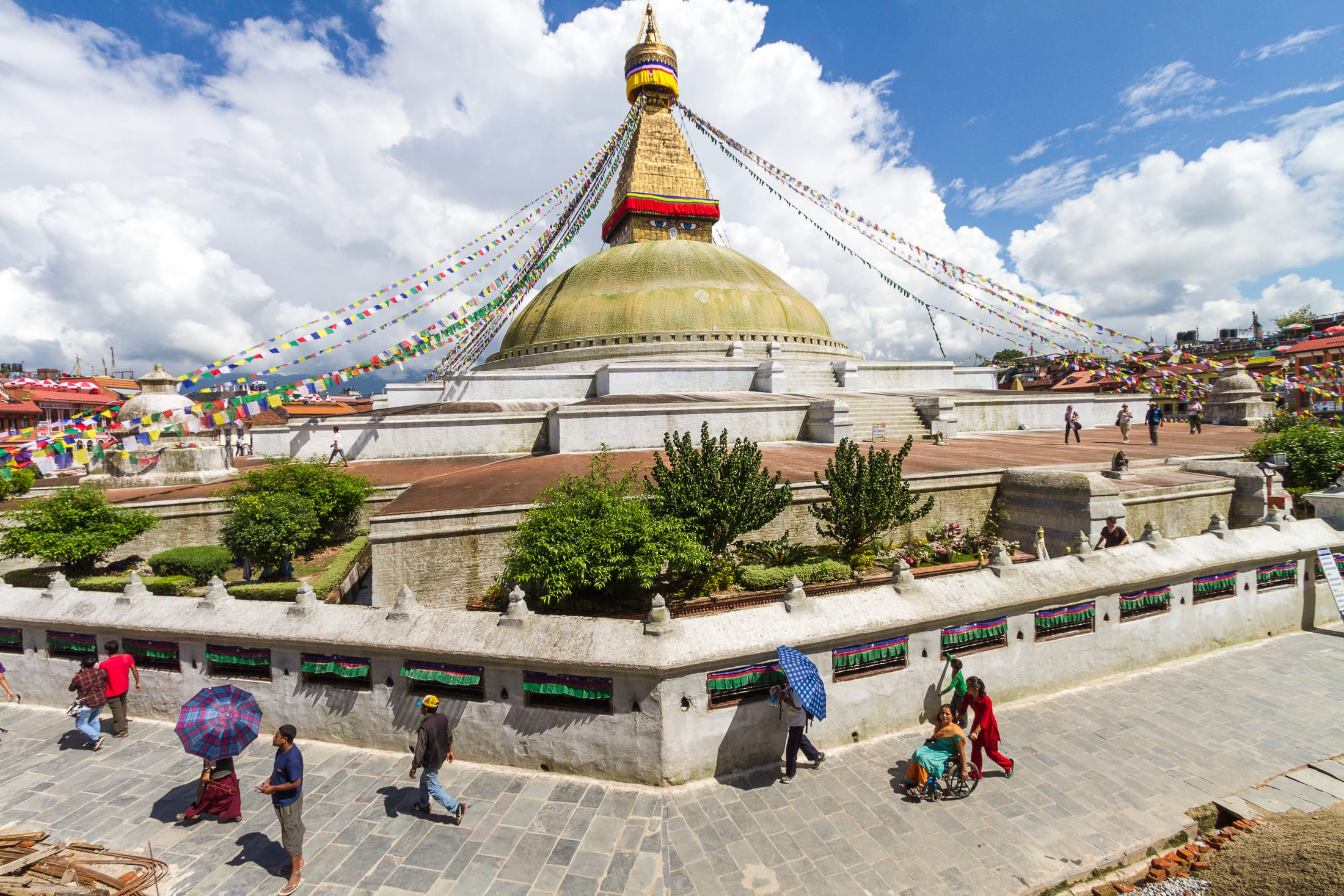 View of Boudhanath temple – Nepal