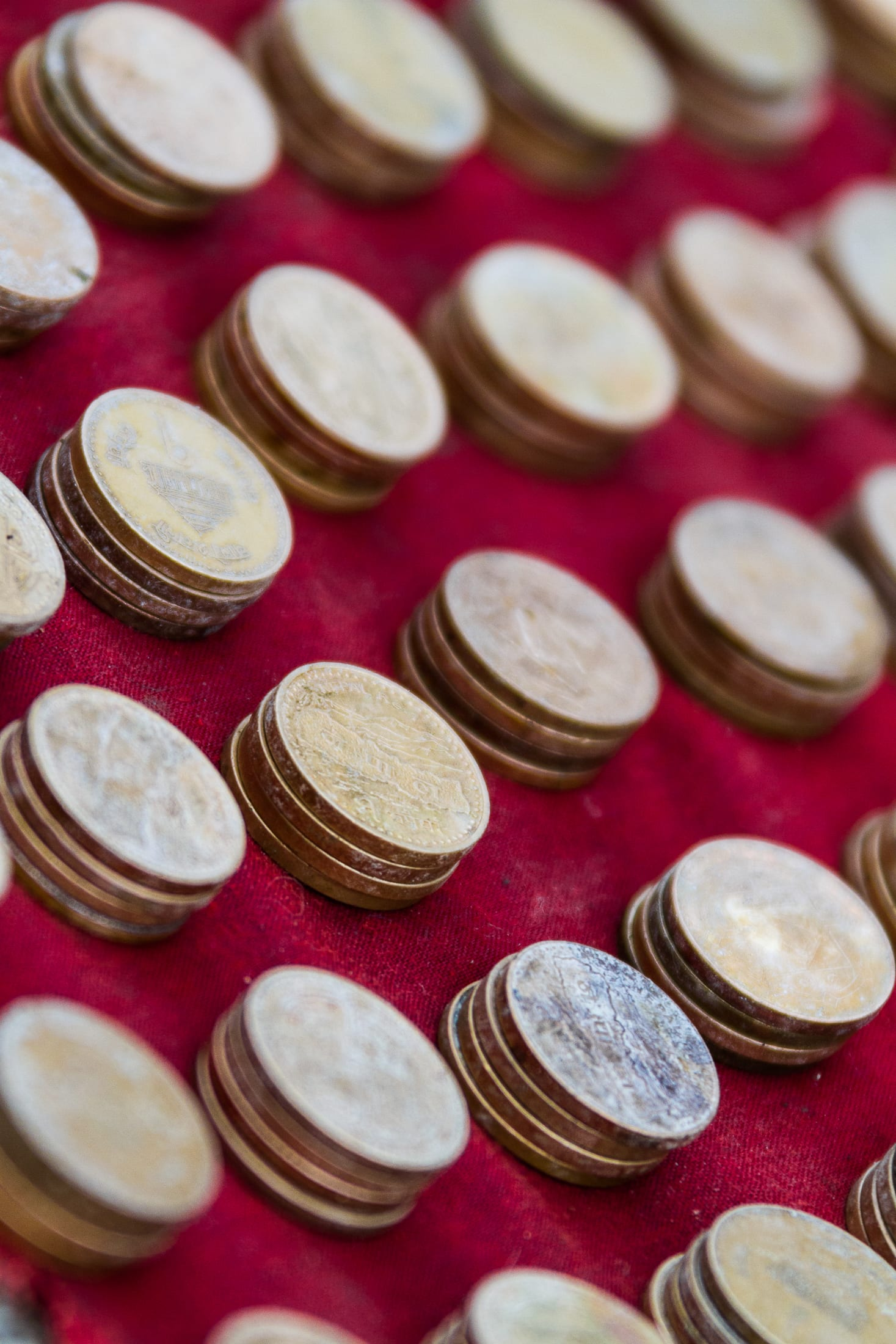 Stack of coins – Nepal